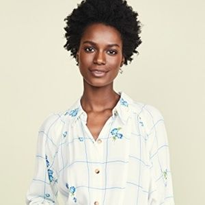 Free People Window to My Heart Button Down Top